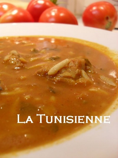 Chorba tunisienne hlalem au poisson – Hlalem bel hout