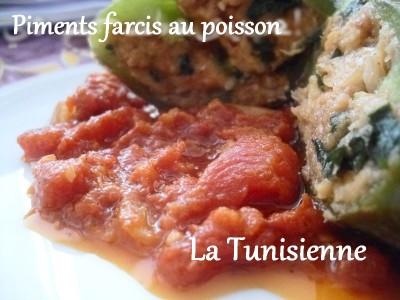 Piments farcis au poisson – Felfel mahchi bel hout