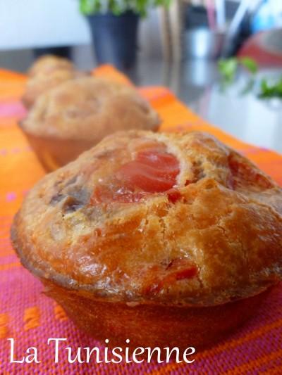 Muffins salés (merguez/courgette/poivron)