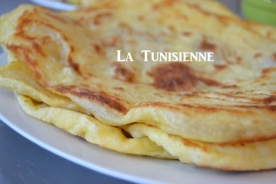 Galettes tunisiennes version rapide- Mleoui express
