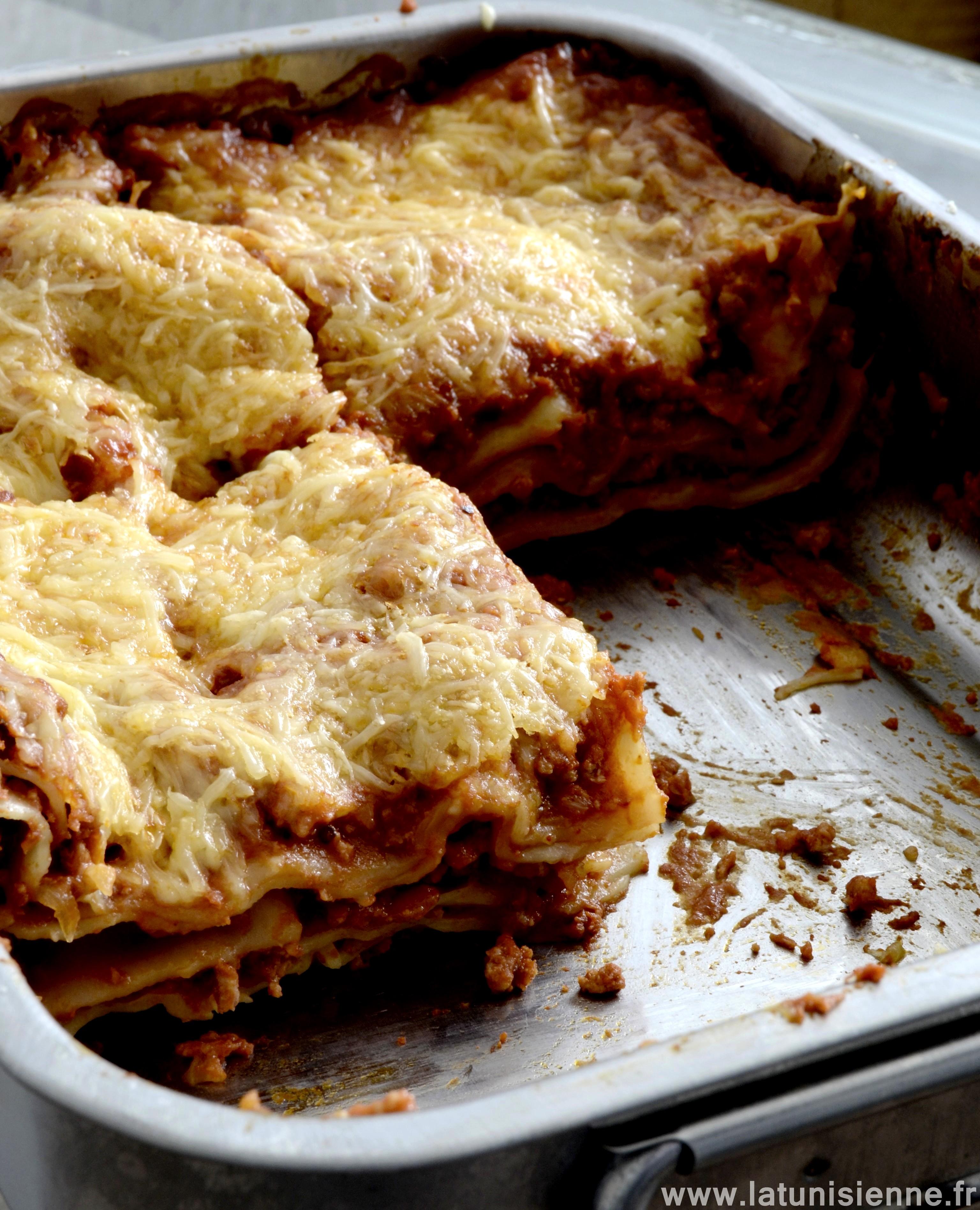 Lasagnes la bolognaise cr meuses et super faciles - Lasagne facile et rapide ...