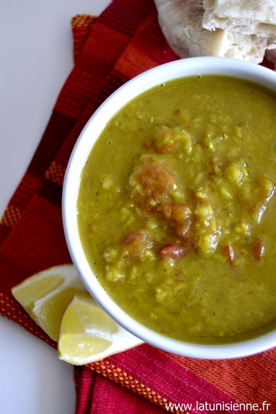 Soupe à l'indienne, curry et lentilles corail