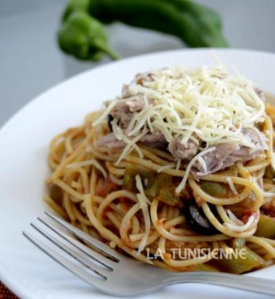 spaghetti au thon la tunisienne
