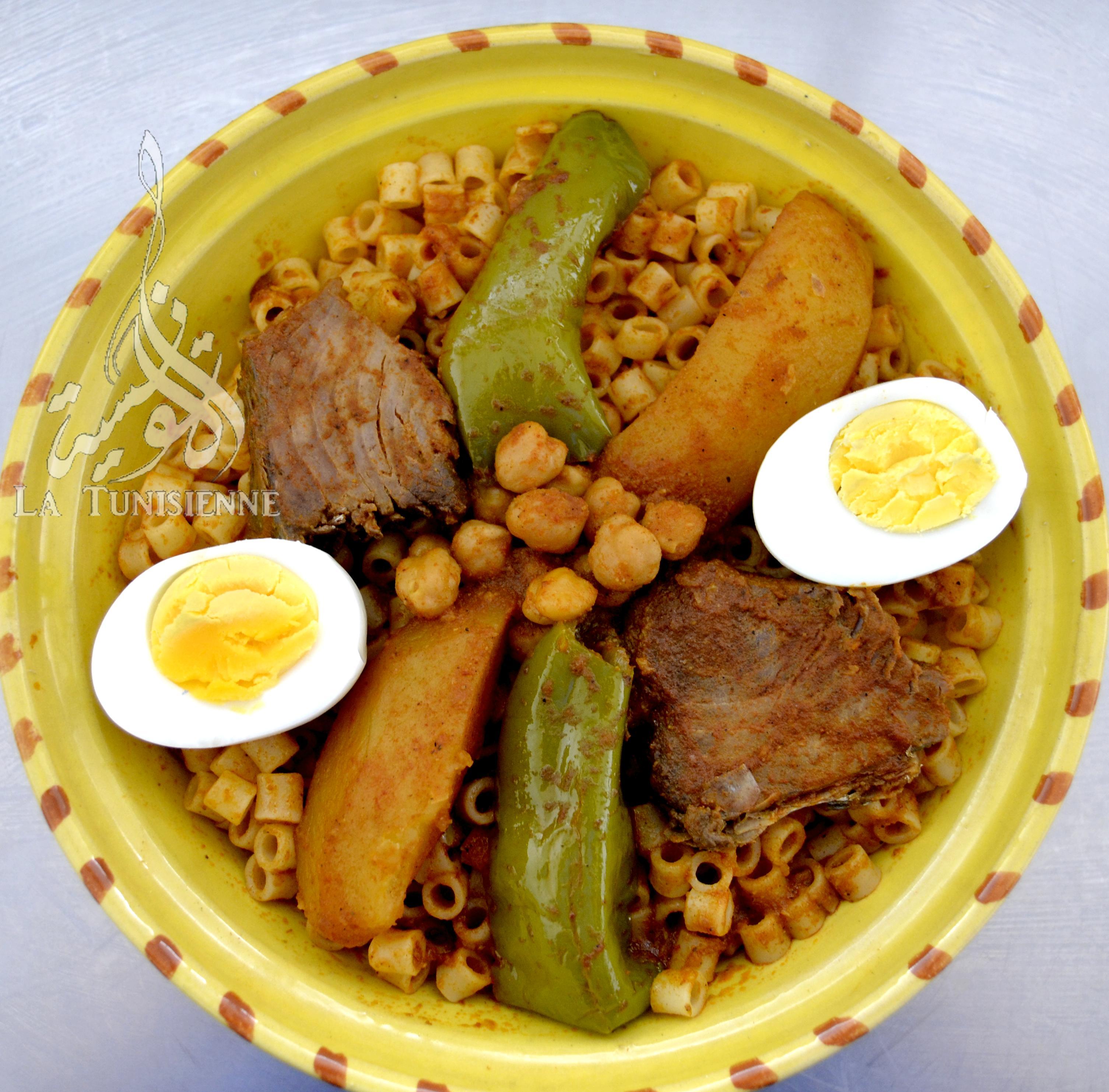 P tes tunisiennes au poisson maqrouna salsa bel hout - Cuisine tunisienne traditionnelle four ...