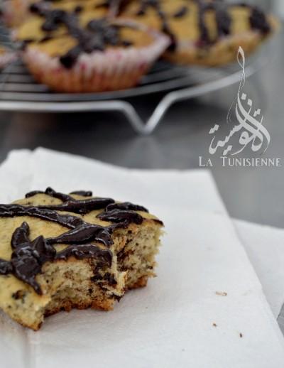 Des muffins presque parfaits, à la banane et au chocolat