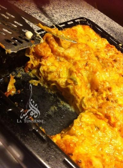 Lasagnes au saumon à la tunisienne