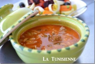 Chorba tunisienne aux langues d'oiseau – Lsen asfour