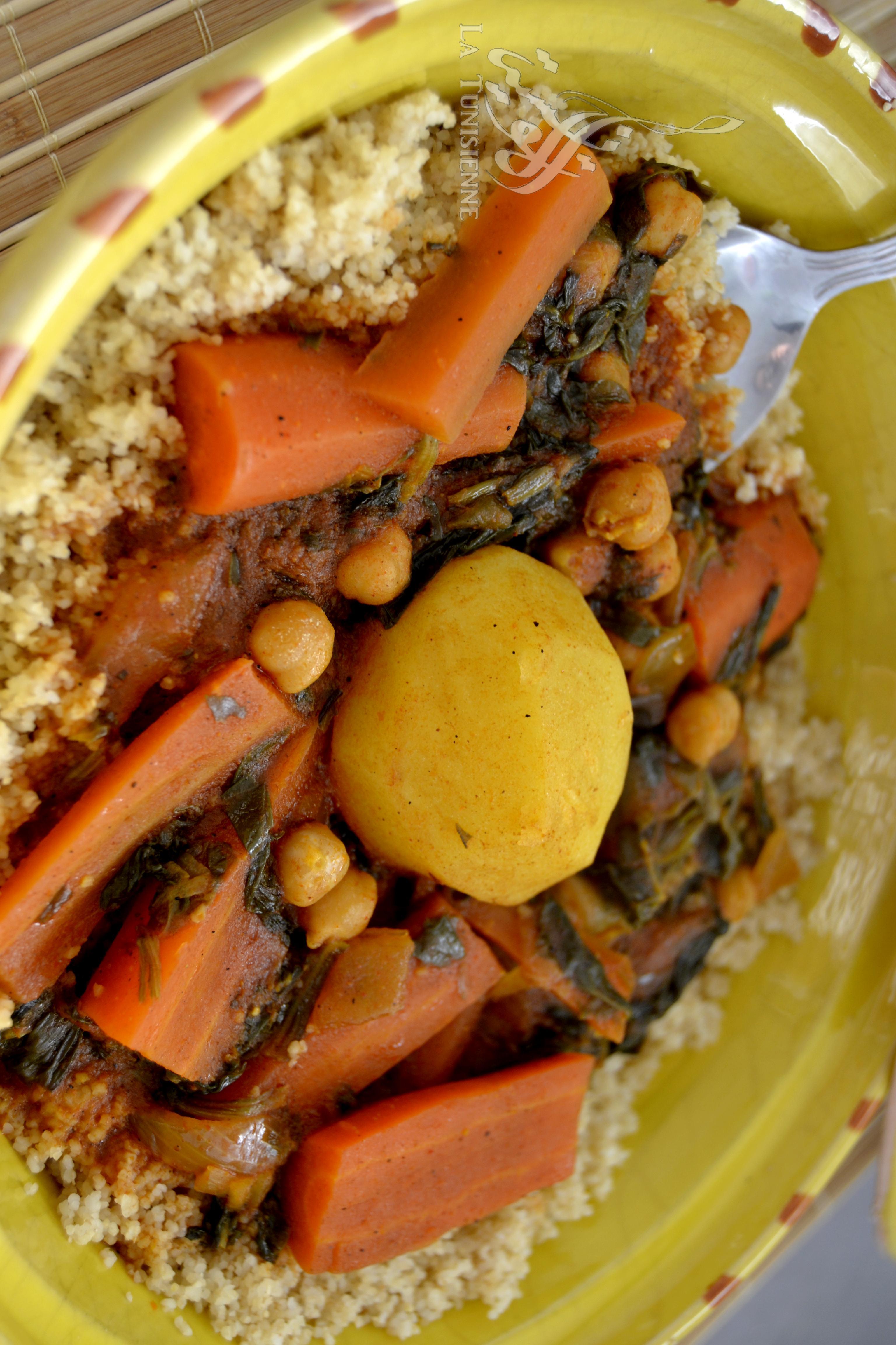 Couscous v g tarien la gafsienne la tunisienne - Cuisine tunisienne poisson ...