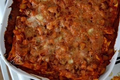 Lasagnes fondantes aux aubergines et au parmesan