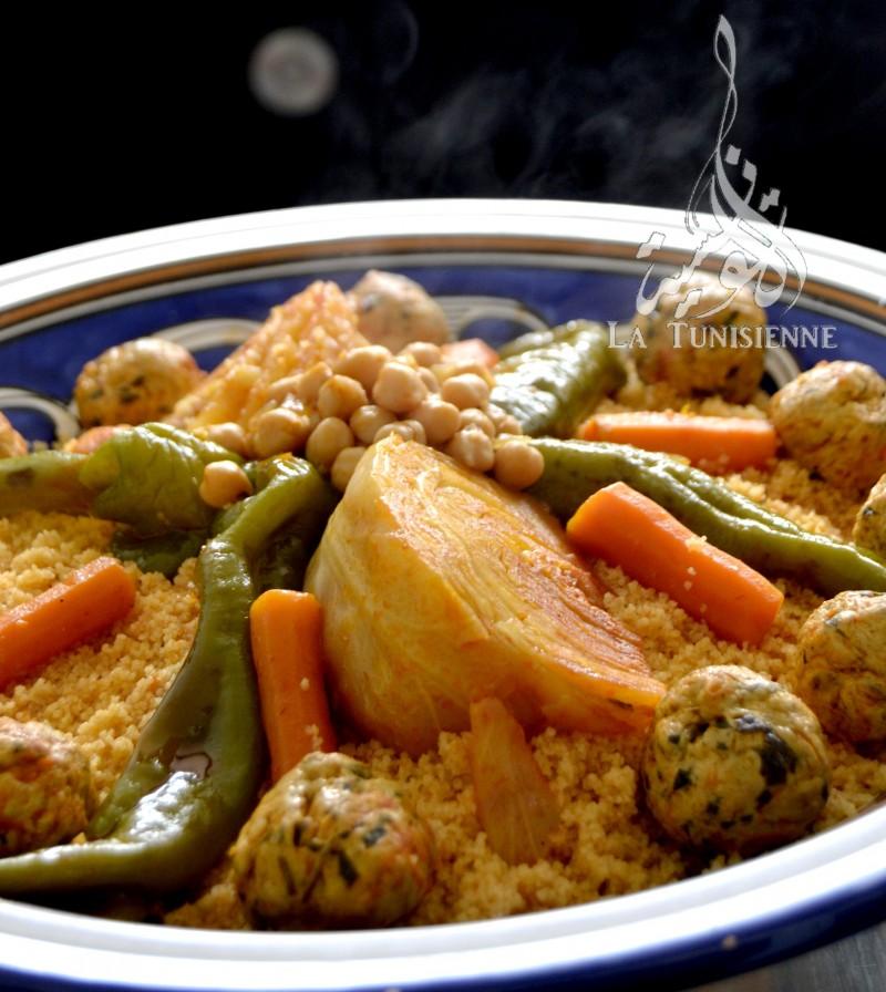 couscous aux boulettes poulet