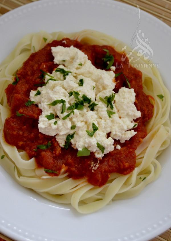 tagliatelles tomate ricotta 2