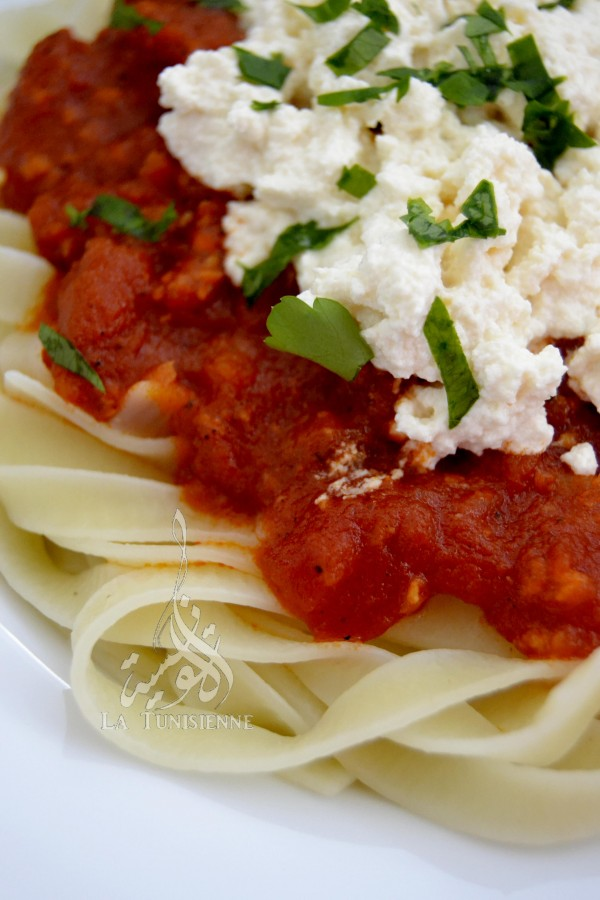 tagliatelles tomate ricotta 3