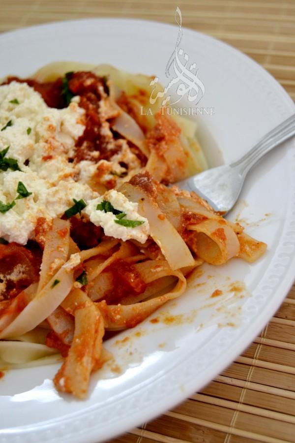 tagliatelles tomate ricotta 4