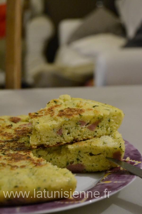 galette restes couscous salami 1