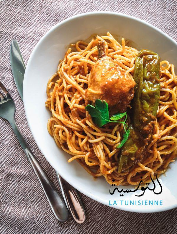 spaghetti tunisiens au cookeo